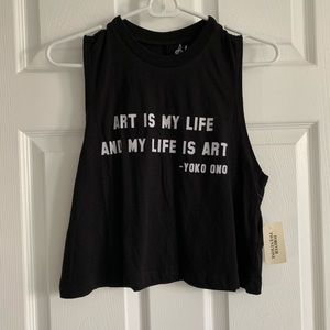 """Art is my life and my life is art"" Tank"